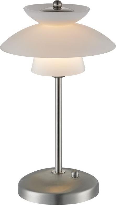 Mini Dallas bordlampe H 30 cm børstet stål