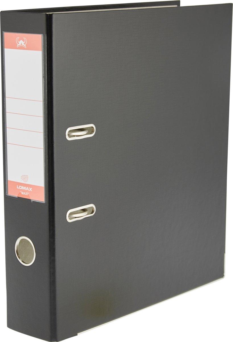 Lomax brevordner A4, 75mm, sort
