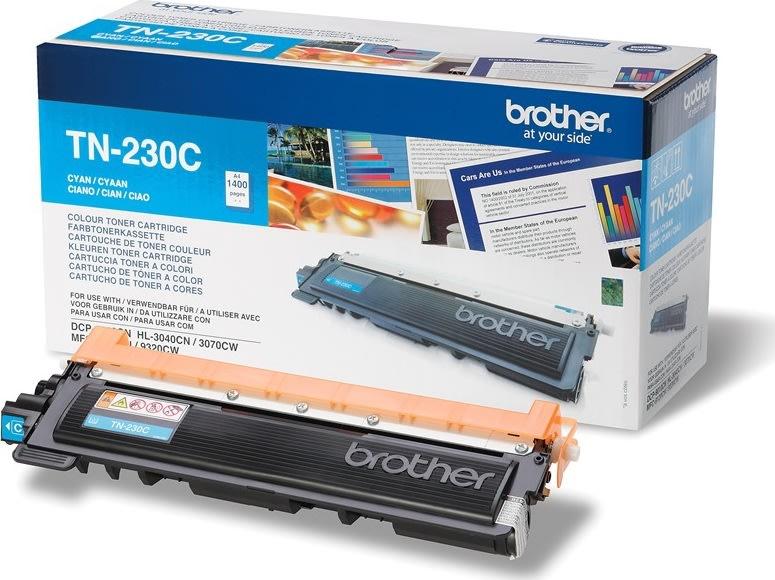 Brother TN230C lasertoner, blå, 1400s