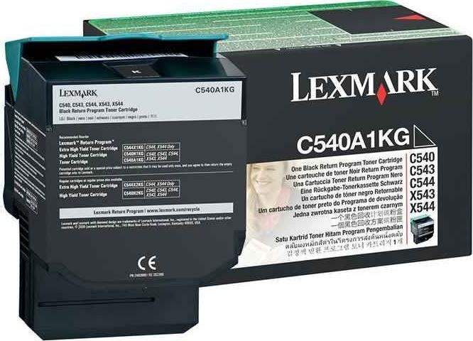 Lexmark C540A1KG lasertoner, sort, 1000s
