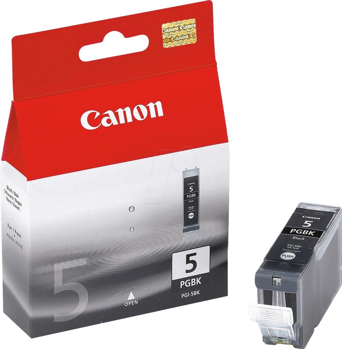 Canon PGI-5BK blækpatron, sort, 360s