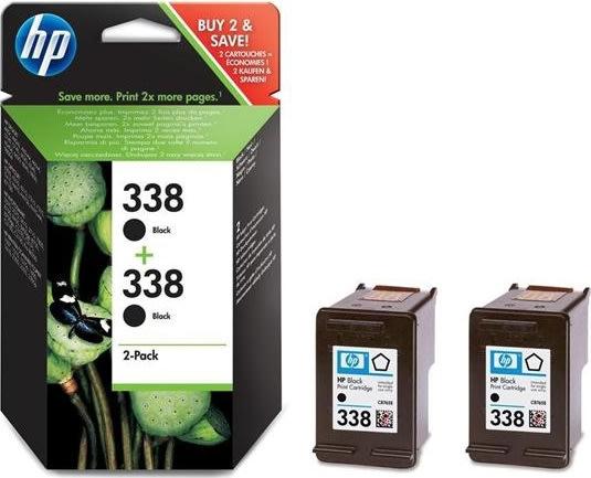HP nr.338/CB331EE blækpatron, sort, 2stk
