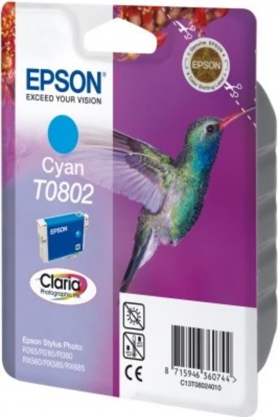 Epson nr.T0802/C13T08024011 blækpatron, blå, 300s