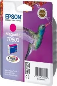 Epson nr.T0803/C13T08034011 blækpatron, rød, 300s
