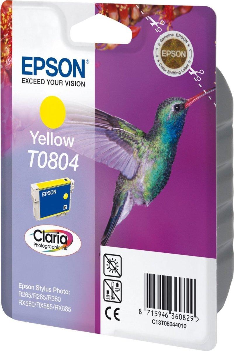 Epson nr.T0804/C13T08044011 blækpatron, gul, 300s