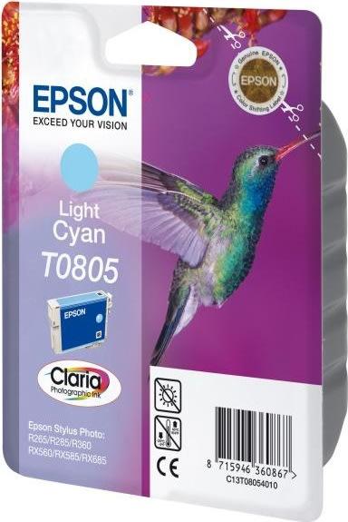 Epson nr.T0805/C13T08054011 blækpatron, lys blå, 3