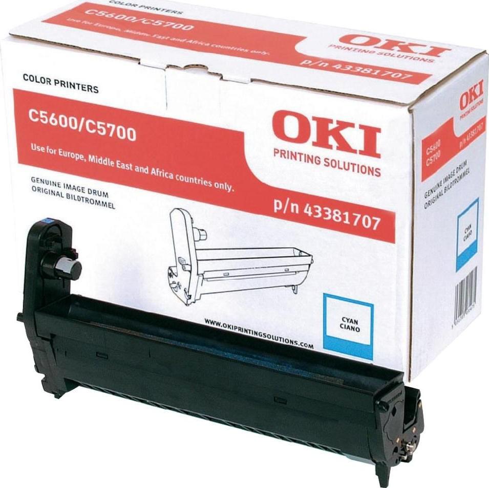 OKI 43381707 lasertromle, blå, 20000s