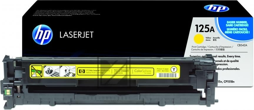 HP nr.125A/CB542A lasertoner, gul, 1400s