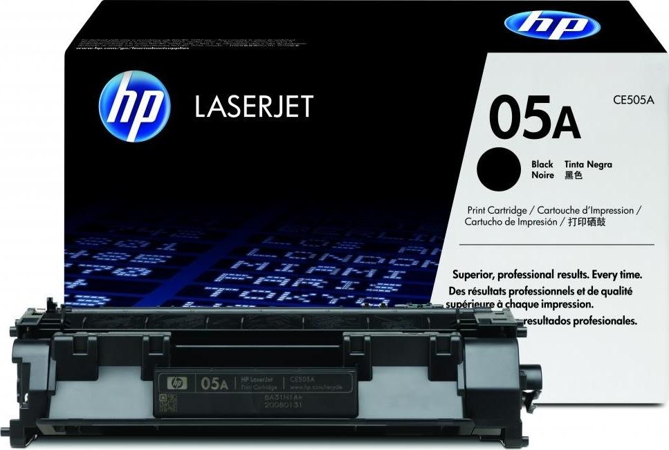 HP nr.05A/CE505A lasertoner, sort, 2300s