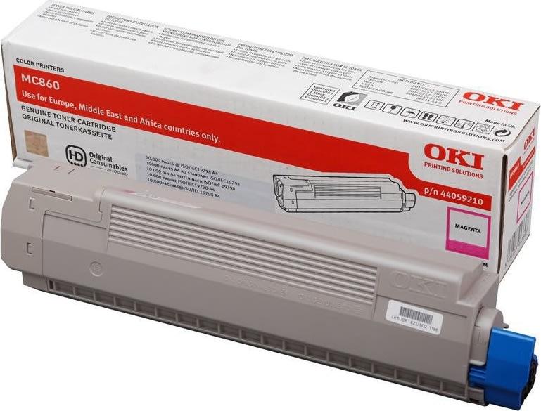 OKI 44059209 lasertoner, gul, 10000s