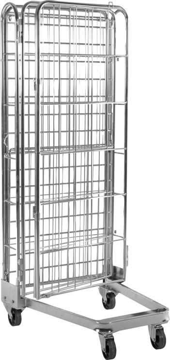 4-sidet rullecontainer, 73x80x191 cm, stabelbar
