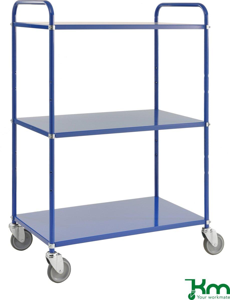 Hyldevogn 3 hylder, 980x585x1445, 250kg, blå