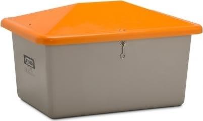 Salt-/sandbeholder, Tough, 550 L, Grå/orange
