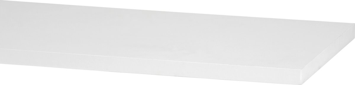 Elfa hylde 25, længde 1800 mm, hvid