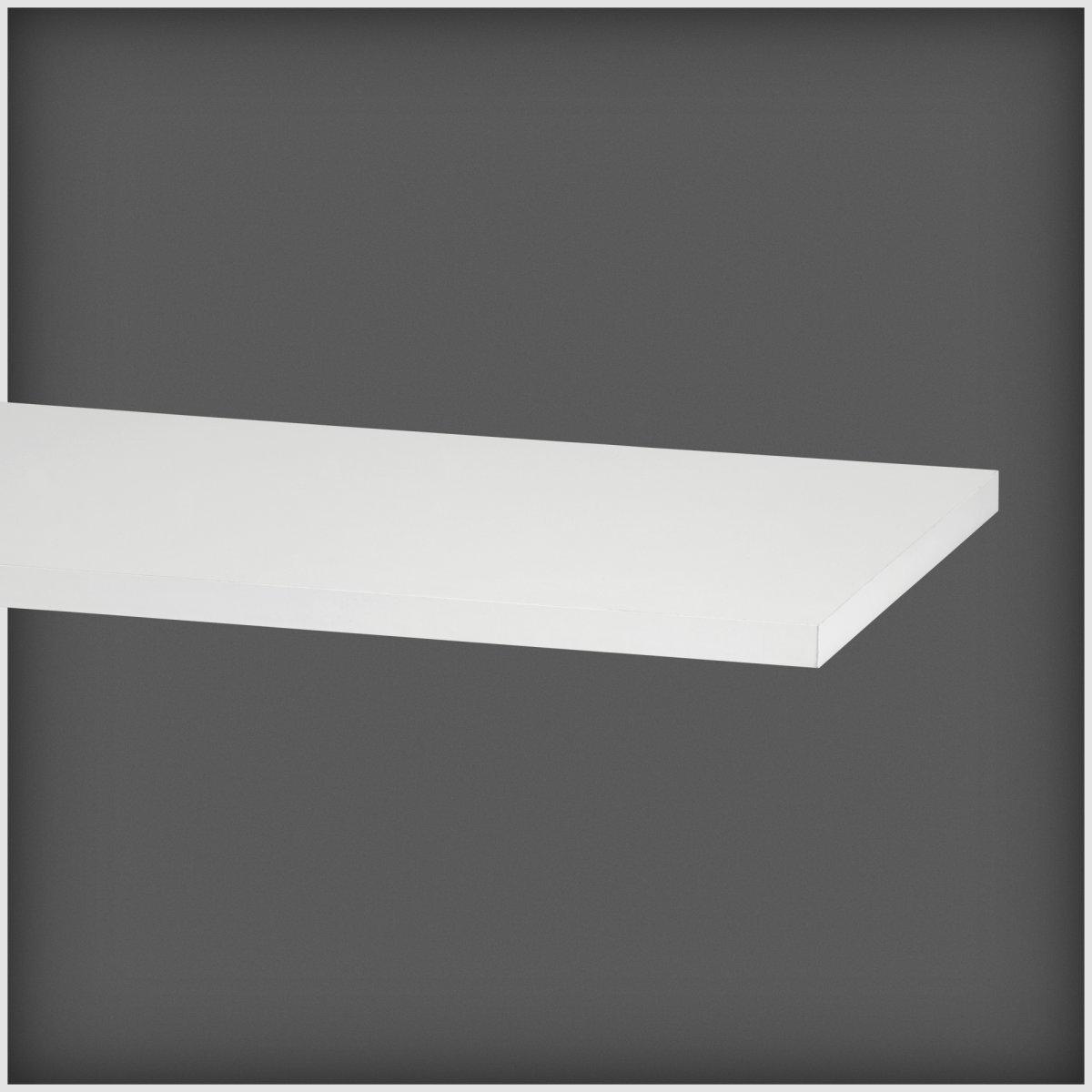 Elfa hylde 40, længde 1800 mm, hvid