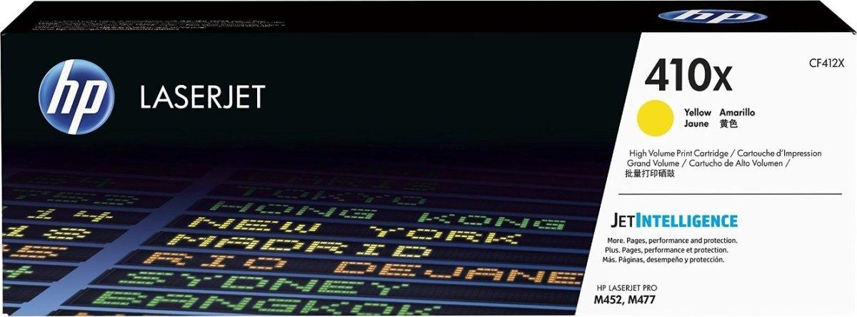 HP nr. 410X/CF412X lasertoner, gul, 5000s