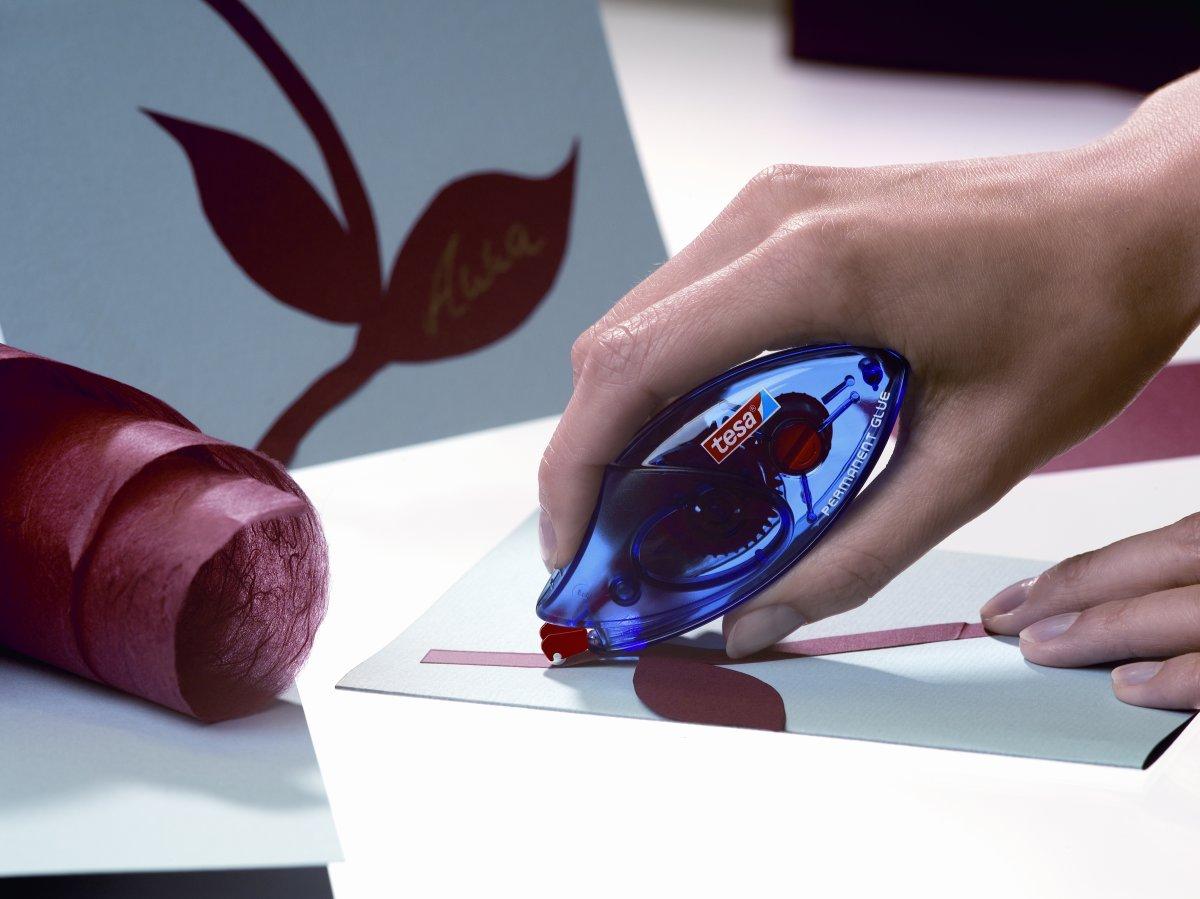 tesa ecoLogo engangsroller med perm. lim, 8,4 mm