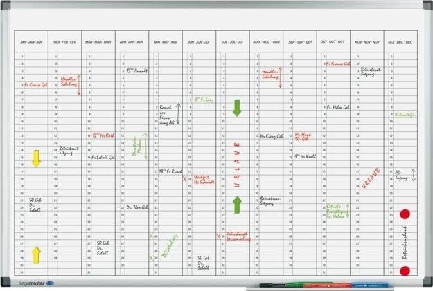 Legamaster årsplan kalender, 60x90 cm