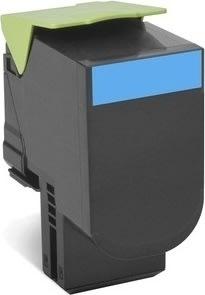 Lexmark 80C2XCE lasertoner, blå, 4000s