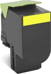 Lexmark 80C2XY0 lasertoner, gul, 4000s