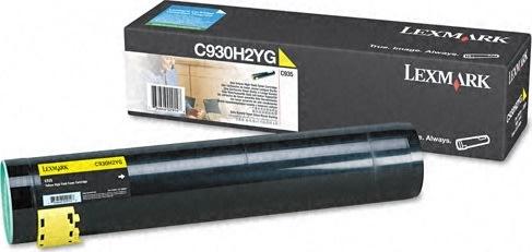 Lexmark C930H2YG lasertoner, gul, 25000s