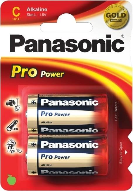 Panasonic Pro Power Gold Alkaline batteri, C, 2stk