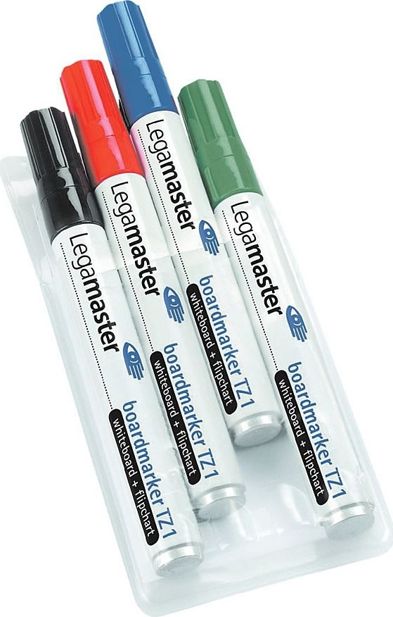 Legamaster TZ-1 whitebordmarker sæt, 4 farver