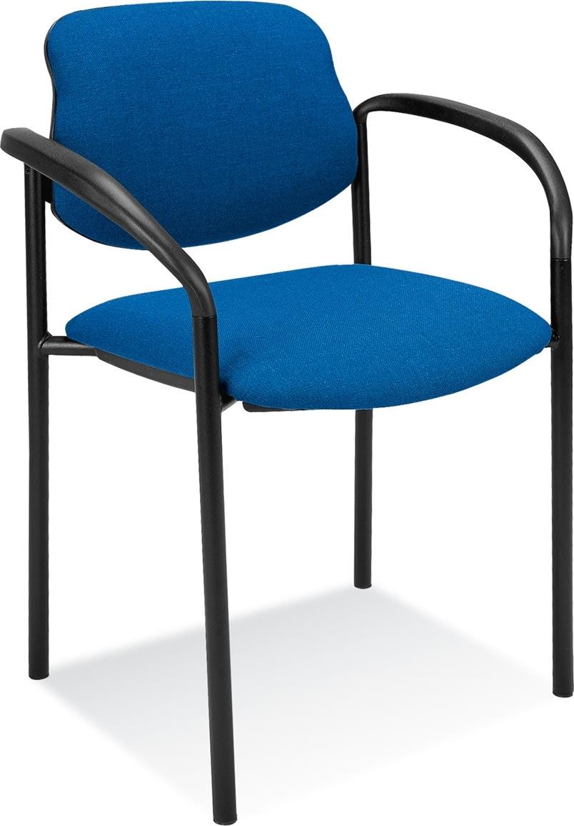 Daniel konferencestol med armlæn, blå
