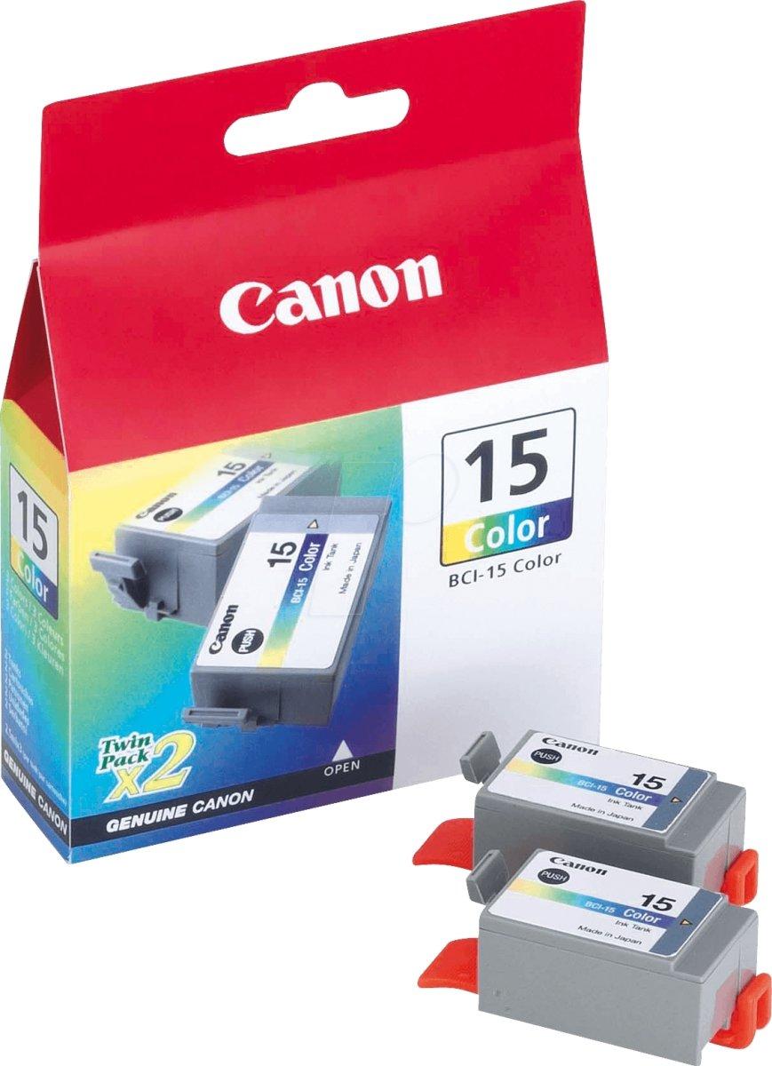 Canon BCI-15 blækpatron, farve, 240s