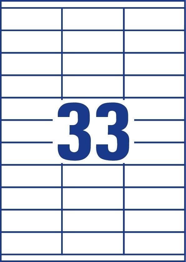 Budget Multi etiket, 70 x 25,4mm