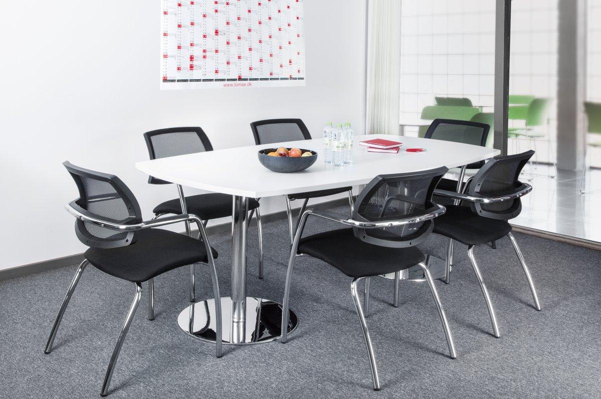 Terme konferencebord hvid /krom