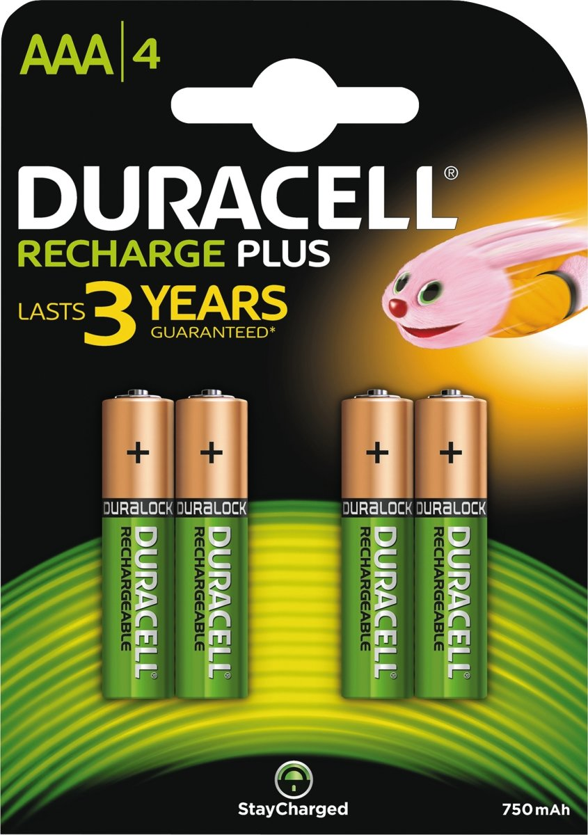 Duracell str. AAA Active Charge genop.batterier 4s