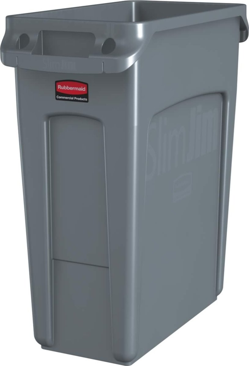Rubbermaid Slim Jim affaldsbeholder, 60 liter, Grå