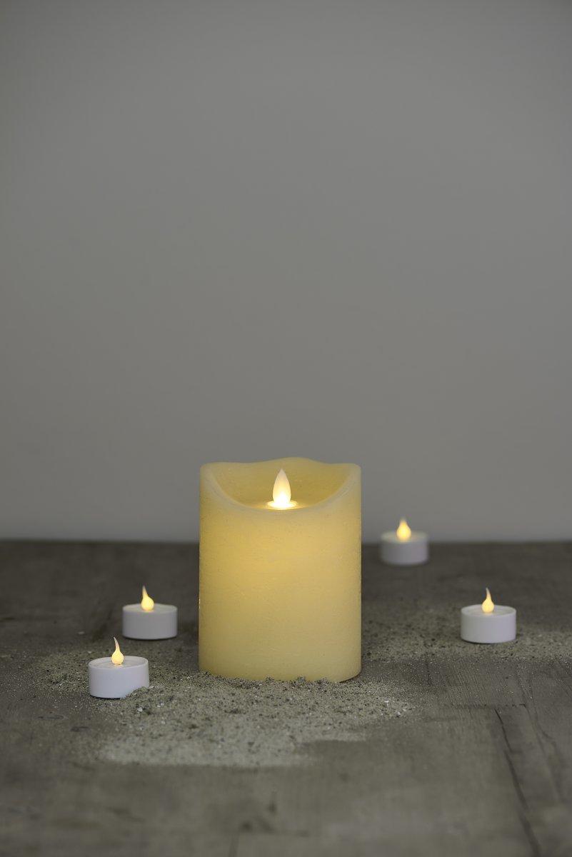 Sara LED vokslys, Mandel, Ø.10 cm, H.12,5 cm