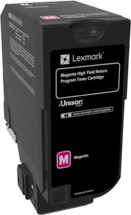 Lexmark 74C2HM0, Lasertoner, Rød, 12.000s
