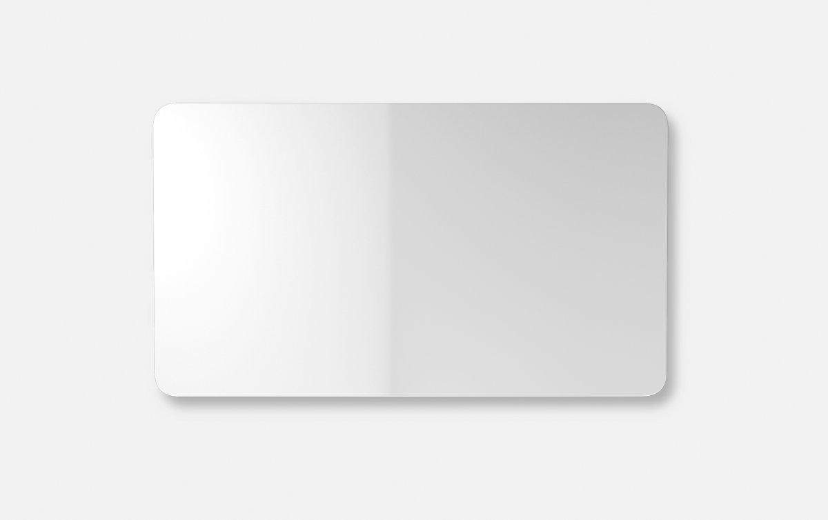 Lintex Mood Fabric Wall Glas, 175 x 100 cm, hvid