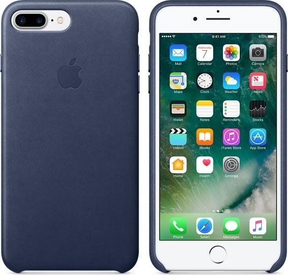 Apple iPhone 7 Plus bagcover i læder, natblå