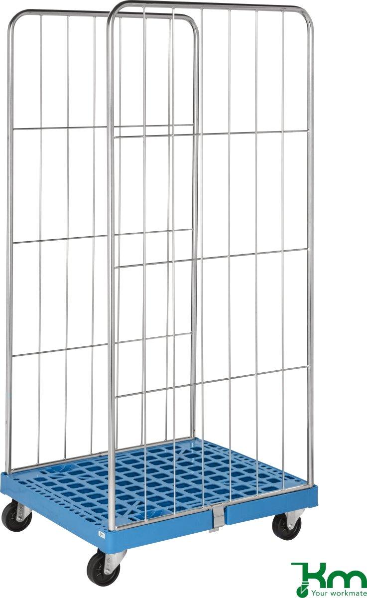 Rullecontainer med plastbund - 2 sider