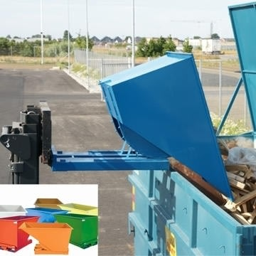 Tipcontainer 1100 l, blå
