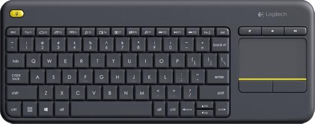 Logitech K400 Plus trådløst tastatur, sort