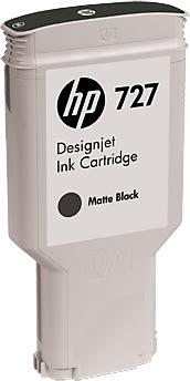 HP 727 DesignJet blækpatron, 300ml, matsort