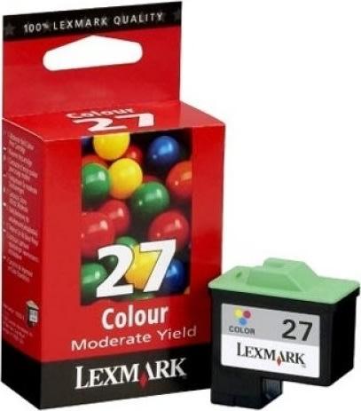 Lexmark 27/10NX227E blækpatron, farve, 140s