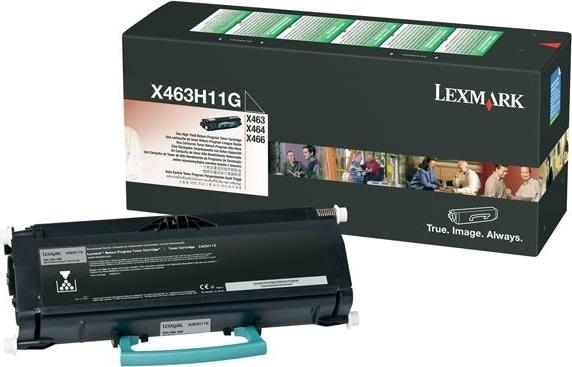 Lexmark X463H11G lasertoner, sort, 9000s