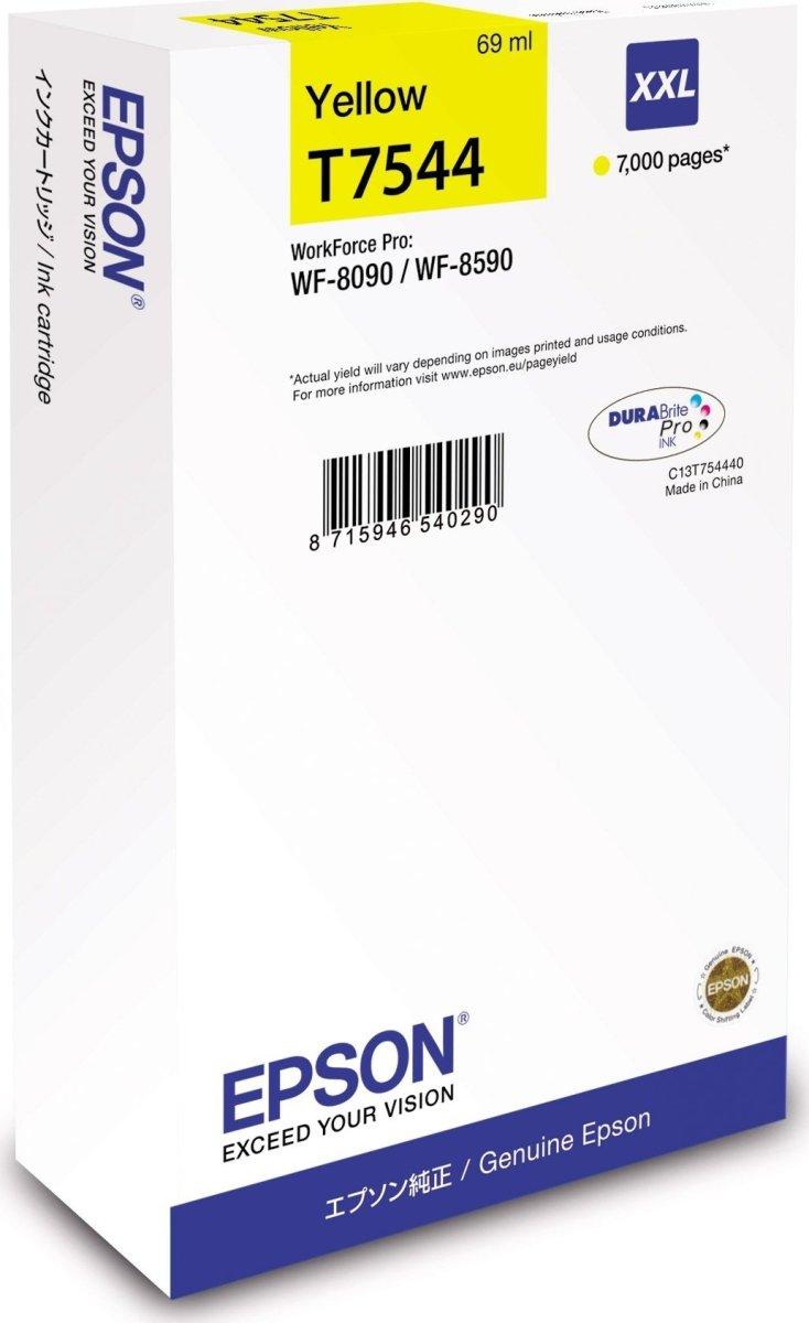 Epson C13T755440 XL blækpatron, gul, 4000s.