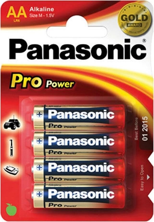 Panasonic str. AA Pro Power Gold batteri, 4stk