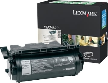 Lexmark 12A7462 lasertoner, sort, 21000s