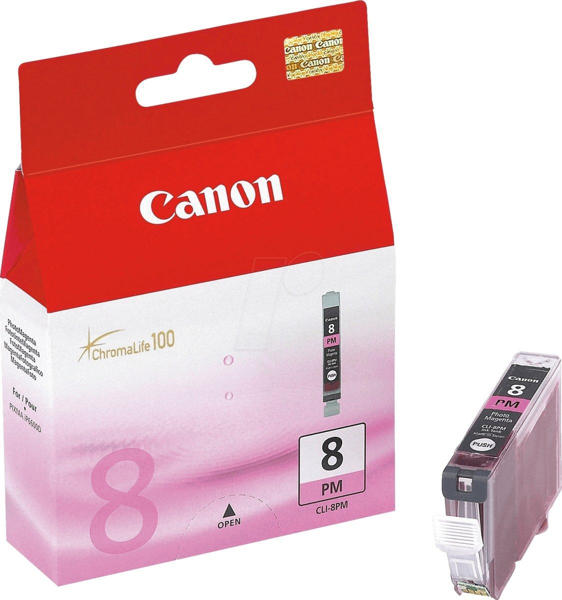 Canon CLI-8PM blækpatron, foto rød, 450s