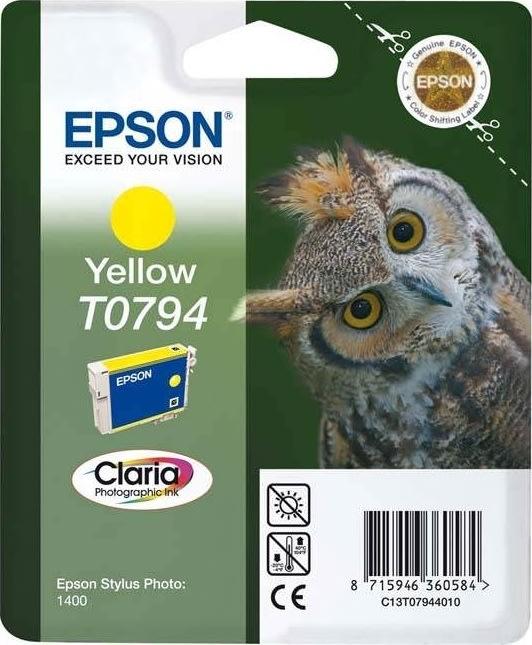 Epson nr.T0794/C13T07944010  blækpatron, gul, 400s