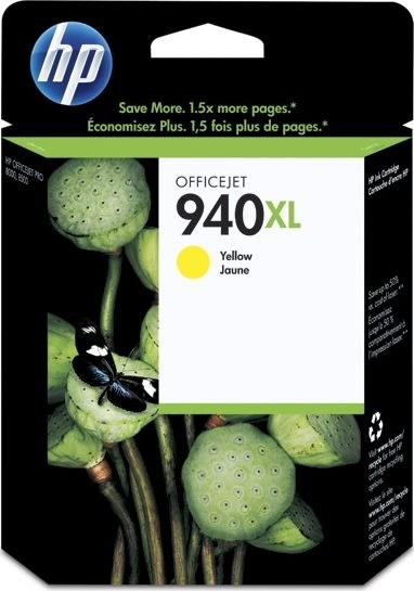 HP nr.940XL/C4909AE blækpatron, gul, 1400s