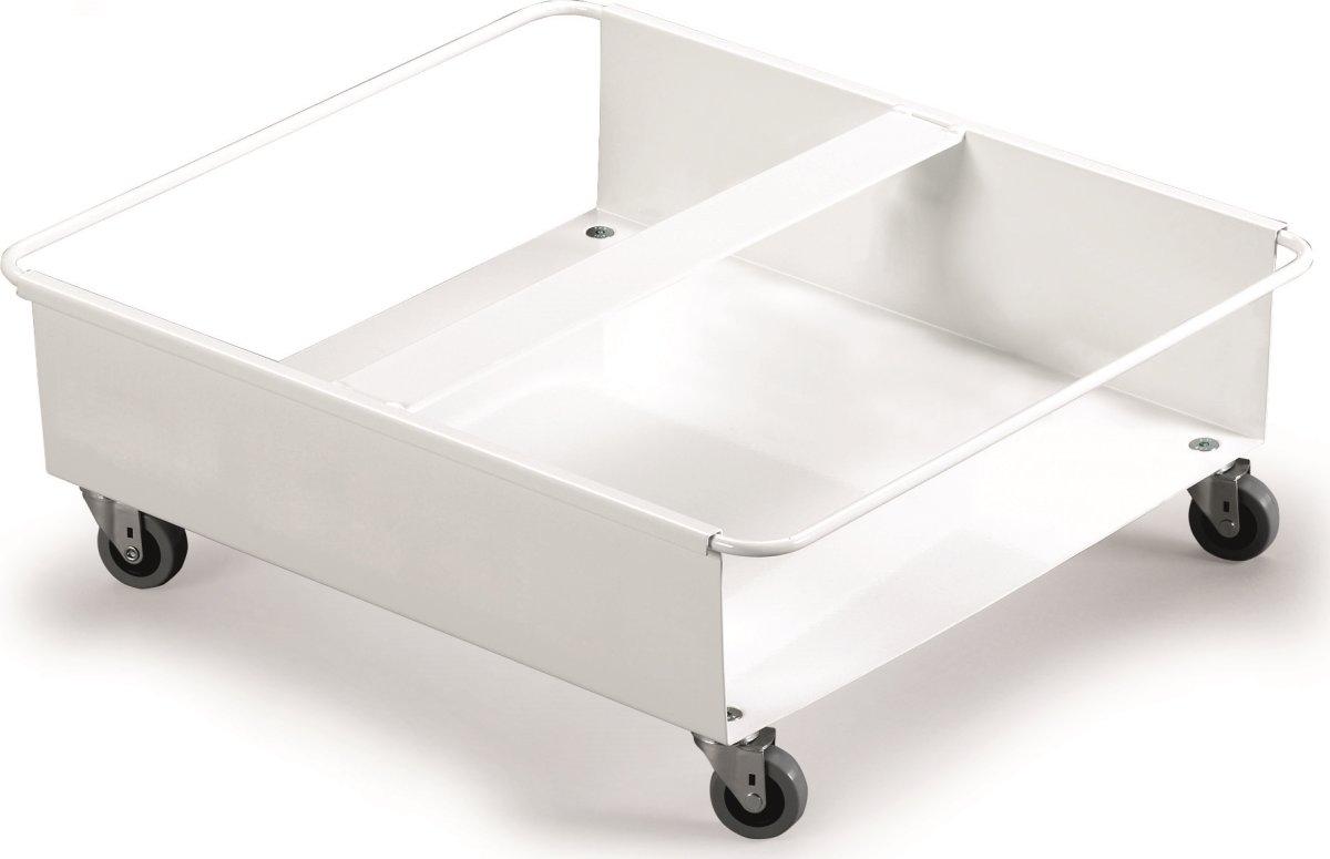 Transportvogn til 2 stk. 60 l affaldsspand, Hvid